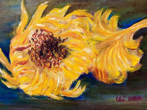 Van Gogh Sun Flower - Greeting Card