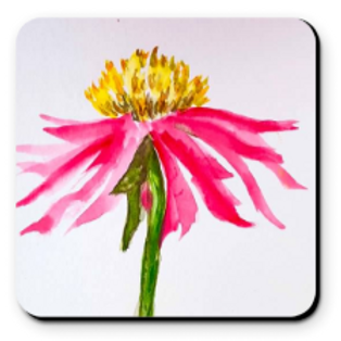 Set of 4 Artistic Coaster -Corn Flower