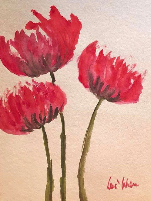My Flowers - Watercolor Birthday Cards