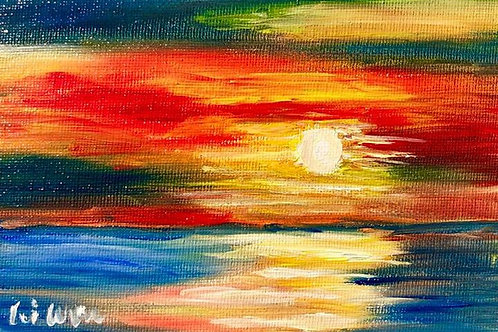 Sunset over Happiness Original Oil Painting