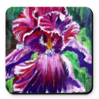 Set of 4 Artistic Coaster - Purple Iris