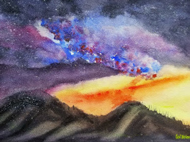Milky Way  Original Watercolor Paintings