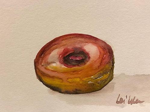 Yum Donuts - Watercolor by Lei  Original Watercolor Greeting Card