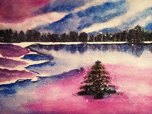 Merry Christmas Original Watercolor Paintings