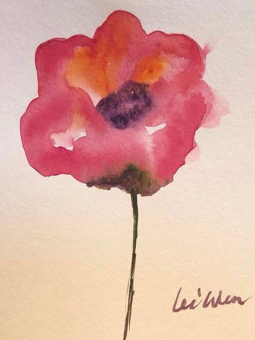 To my love - Watercolor Thank you Card