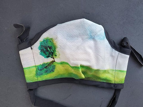 Tree Custom printed Cotton Sateen Face Coverings