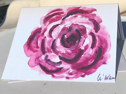 My Rose - Watercolor Note Card