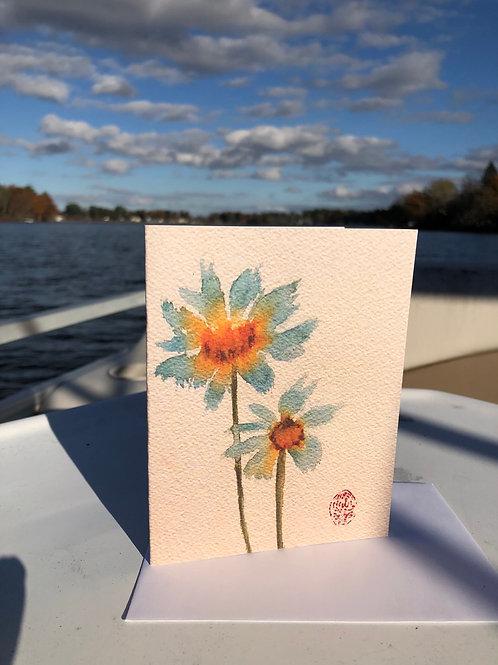 Daisy Watercolor Thank You Card