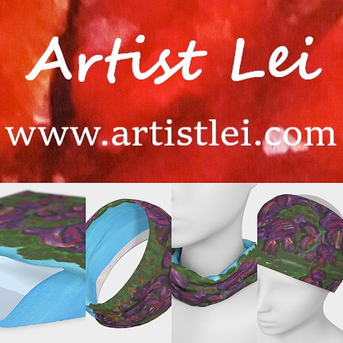 Lakeside Iris funnel scarf/headband/bandanas/scrunchy