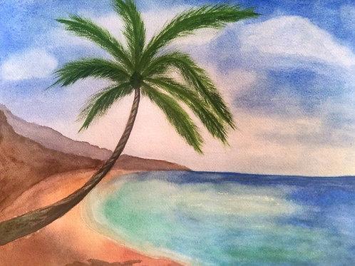Coral Beach  Original Watercolor Paintings