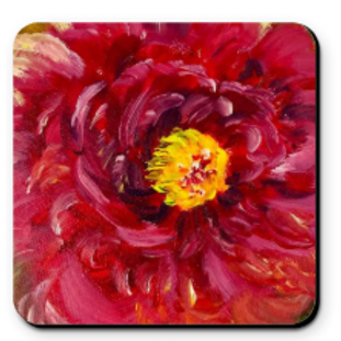 Set of 4 Artistic Coaster - My Flower