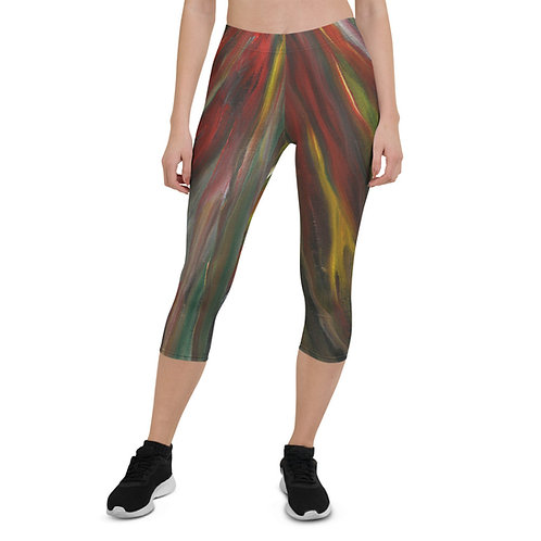 Capri Leggings - Fire Sprit