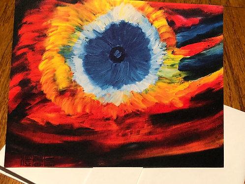God's Eye Nebula - Oil by Lei