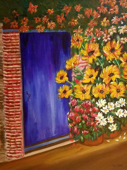 Flower painting, Modern canvas art, Original Acrylic painting, Abstract Painting Original, Contemporary, Gift ideas for mom,