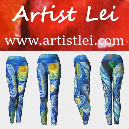 Starry Night Yoga Legging