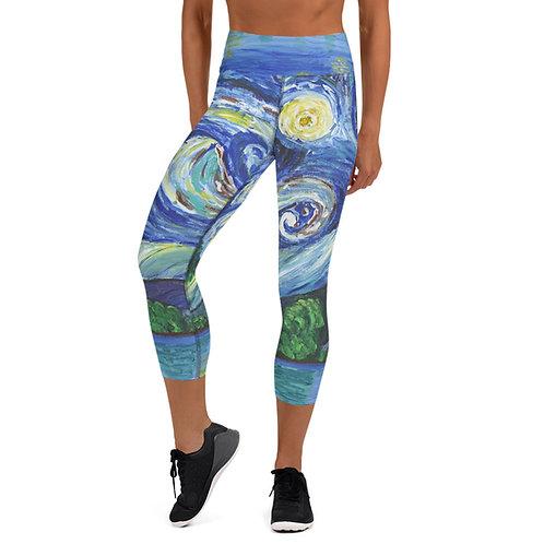 Starry Night - Yoga Capri Leggings
