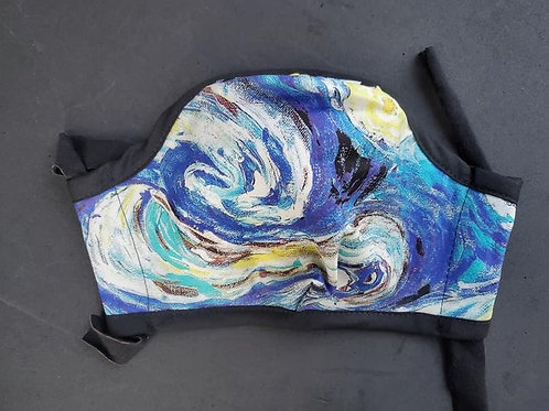 Starry Night Custom printed Cotton Sateen Face Coverings