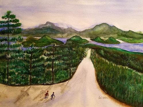 Love on the slope Original Watercolor Paintings