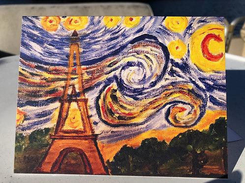 Starry Night over Eiffel Tower