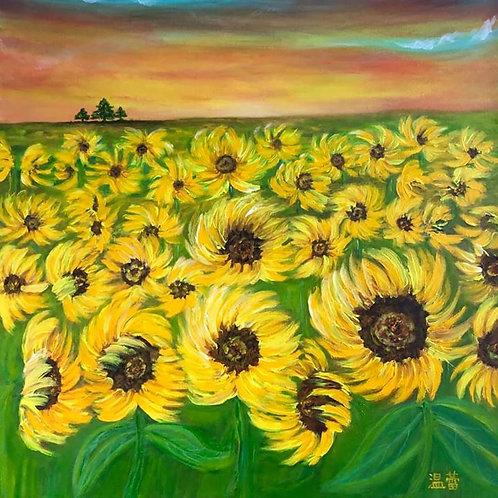 Face the Sunflowers Original Acrylic