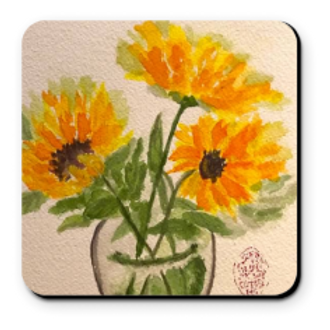 Set of 4 Artistic Coaster - Sunflowers