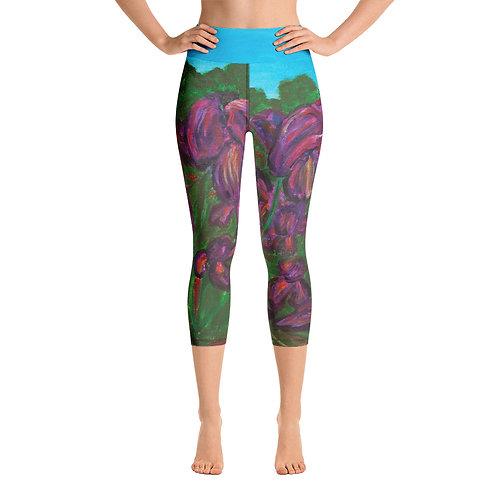 Yoga Capri Leggings-Iris
