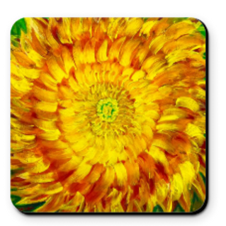Set of 4 Artistic Coaster - My Lovely Flower