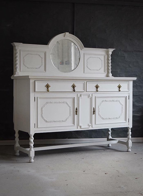 2 Door, 2 Drawer Painted Sideboard with Mirror