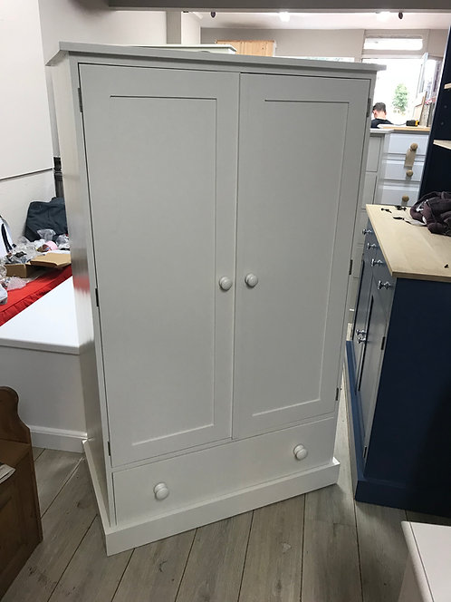 Childs Painted Pine Wardrobe with Drawer