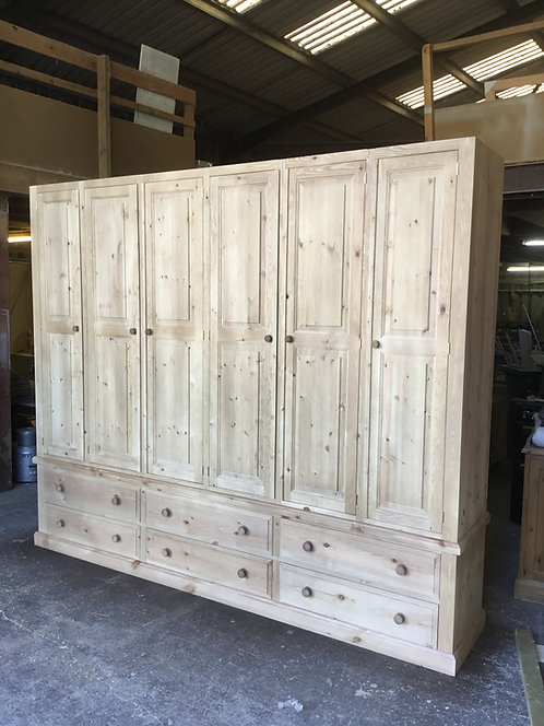 6 Door, 6 Drawer Wardrobe