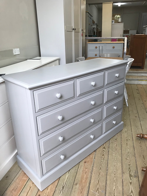 9 Drawer Painted Chest of Drawers