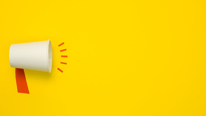 minimalist-concept-with-megaphone-yellow