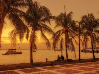 An amazing sunset in Martinique