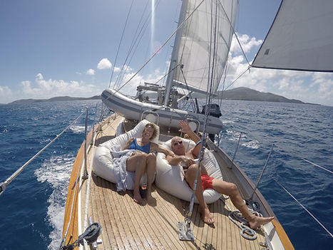 sailing on The Dove