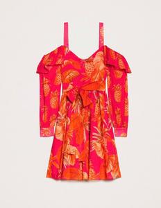 שמלה מכותנה דקה בצבעוניות חזקה