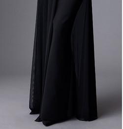 מיקי שרוני קולקצית חורף 2016 שמלת ערב ארוכה עם שיפון 3