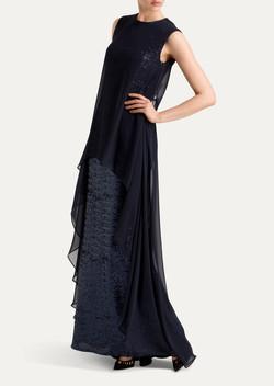 שמלת ערב פאייטים ושיפון מיקי שרוני