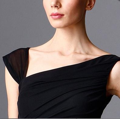 מיקי שרוני קולקצית חורף 2016 שמלת ערב ארוכה עם שיפון 1