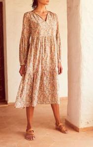שמלת כותנה פרחים מכותנה מאוד דקה - מיקי שרוני קולקציית קיץ 2020 אופנה בייבוא אישי