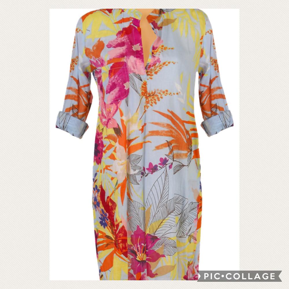 מיקי שרוני קולקציית קיץ 2020 שמלה  פרחונית מכותנה מאוד דקה