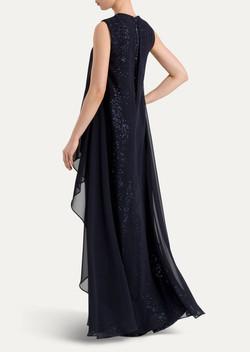 שמלת ערב פאייטים ושיפון מיקי שרוני 1