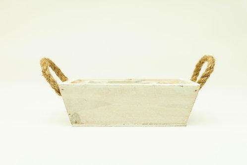 White Wash Rope Handle Box
