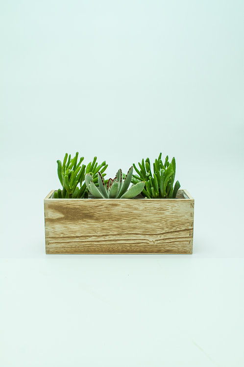 Wood Arrangement Natural Box With Soft Liner- 6""