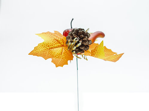 Flora Pack Fall Gourd and Autumn Leaf Pick