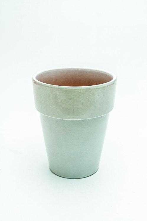Blue Glazed Terracotta Pot