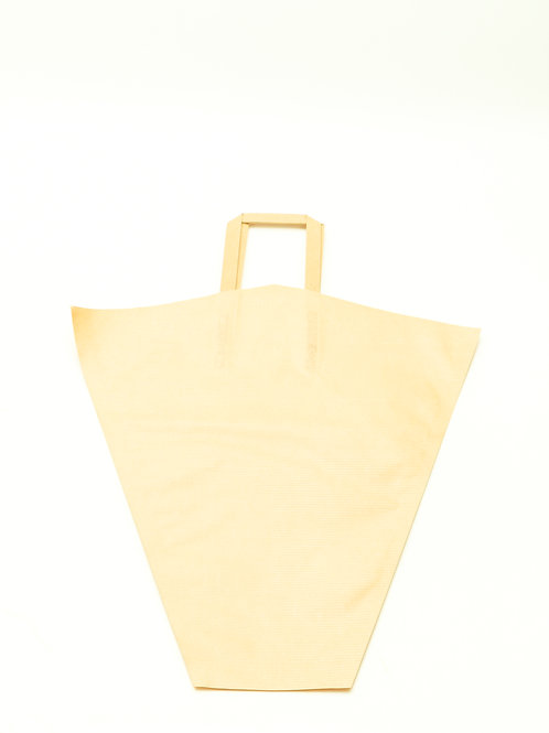 """Kraft Sleeve With Handle Natural- 17"""""""