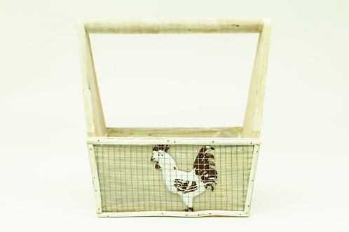 Chicken Coupe Wooden Box With Handle