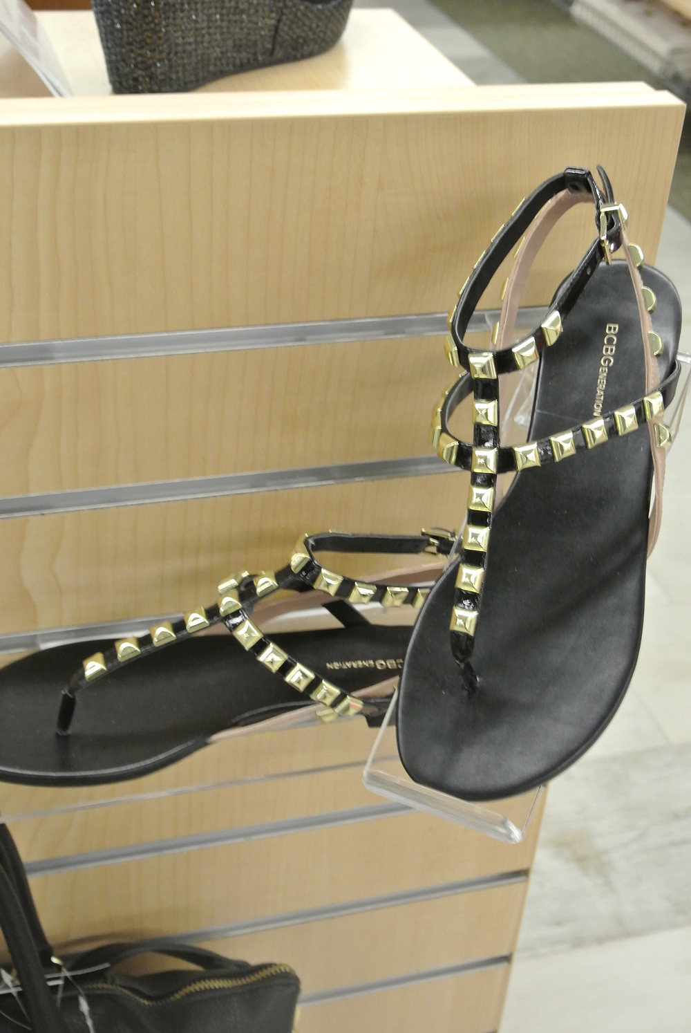 BCBG Generation Gold Studded Sandals $39.98