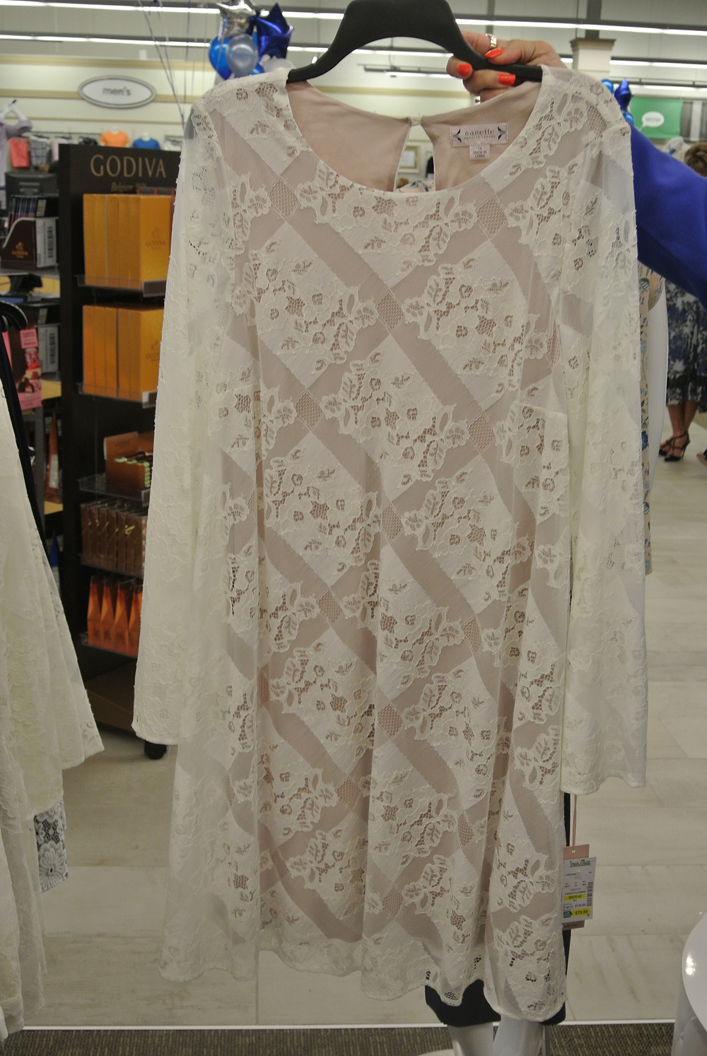 Nanette Lepore Ivory Lace Dress $79.99
