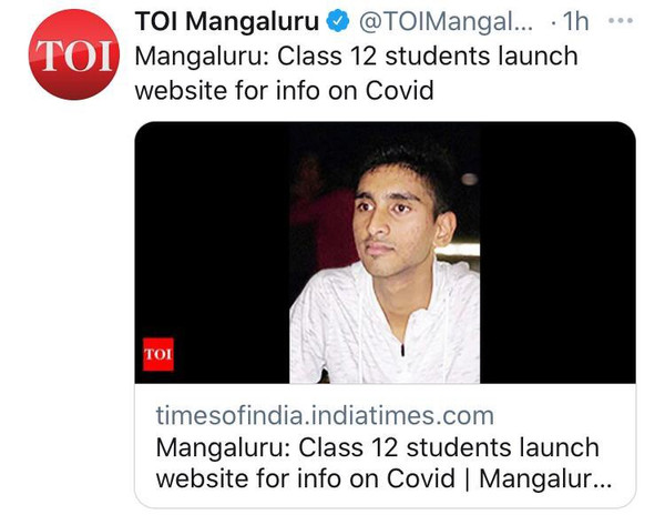 Times of India Twitter